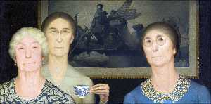 Grant Wood - hijas de revolution