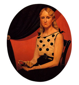 Grant Wood - Retrato de Nan