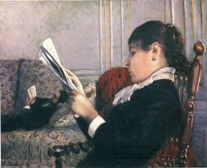 Gustave Caillebotte - el interior mujer  Lectura