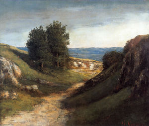 Gustave Courbet - Paisaje Guyere