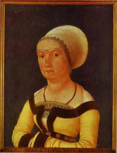 Hans Holbein The Younger - botas retrato todaclasede  34   año  anciano  mujer