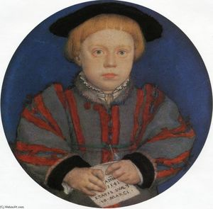 Hans Holbein The Younger - retrato de enrique Brandon