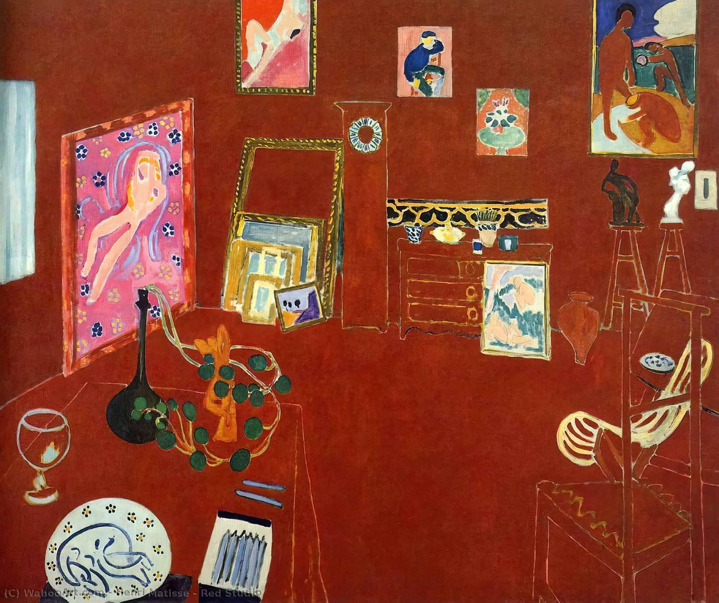 Red Estudio, 1911 de Henri Matisse (1869-1954, France)