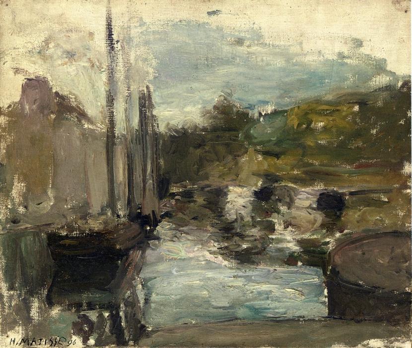 Bretaña también conocido como en barco , óleo sobre lienzo de Henri ...