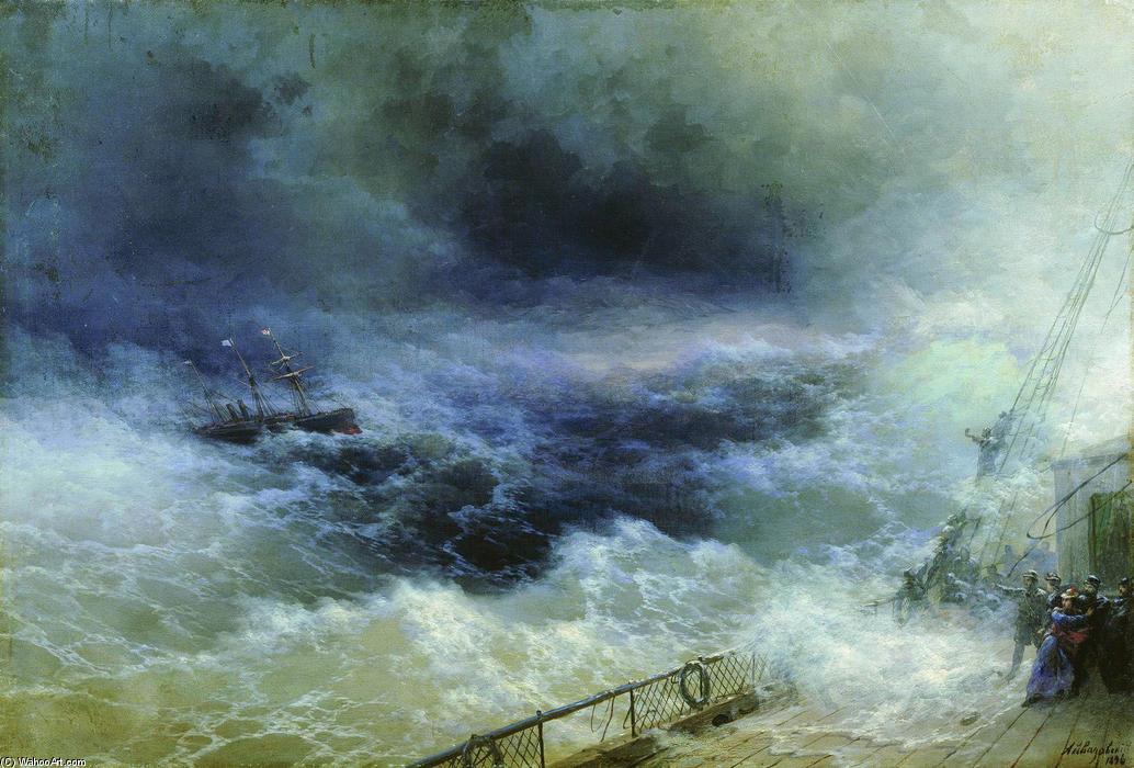 océano, óleo sobre lienzo de Ivan Aivazovsky (1817-1900, Russia)