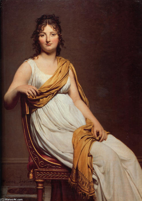 Retrato de Madame Raymond de Verninac, óleo sobre lienzo de Jacques Louis David (1748-1800, France)