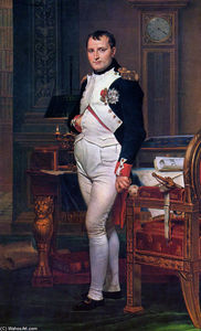 Jacques Louis David - Napoleón Bonaparte en su estudio en el Tuileries
