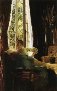 James Jacques Joseph Tissot - mujer en una interior