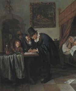 Jan Steen - Visita del Doctor