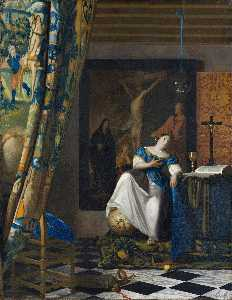Jan Vermeer - alegoría on fe
