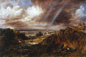 John Constable - Hampstead Heath con un arco iris