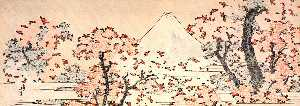 Katsushika Hokusai - monte fuji visto throught cereza flor