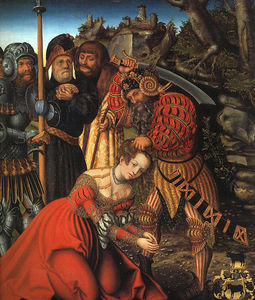 Lucas Cranach The Elder - el martirio of San . Barbara