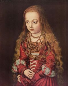Lucas Cranach The Elder - retrato de un `saxon` princesa