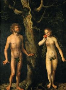 Lucas Cranach The Elder - Adán y Eva
