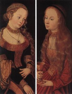 Lucas Cranach The Elder - San . Catherine y san . Barbara
