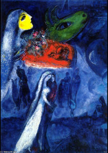 Marc Chagall - on dos bancos