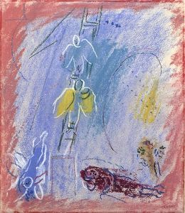 Marc Chagall - 'Study hasta ''The Jacob's Dream'''