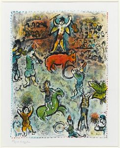 Marc Chagall - desfile in circo