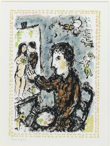 Marc Chagall - escena in estudio