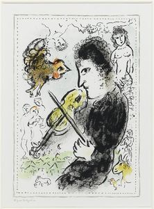 Marc Chagall - Fiddler con Ruster