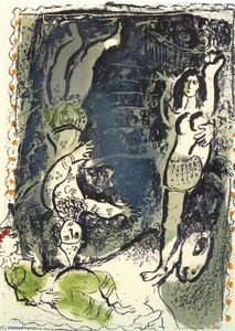 Marc Chagall - Acrobates