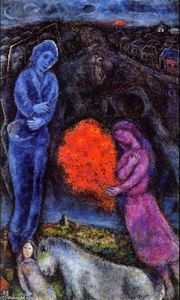 Marc Chagall - Saint-Paul de Vance en el Sunset