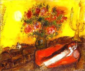 Marc Chagall - Los inflama Sky
