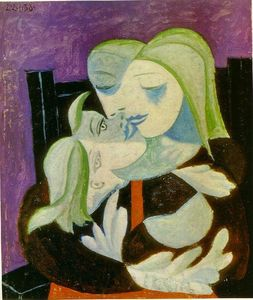 Pablo Picasso - Madre e hijo ( Marie-Therese asícomo Maya )