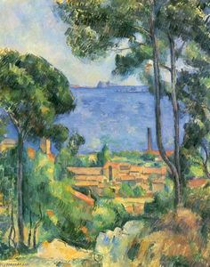 Paul Cezanne - Vista de L Estaque y Chateaux D If