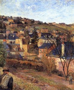 Paul Gauguin - Azul techos of Rouen