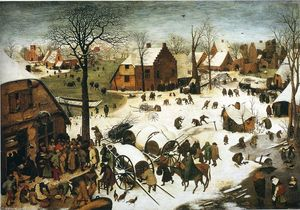 Pieter Bruegel The Elder - Censo en Belén