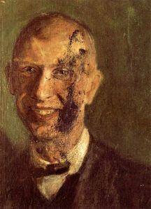 Richard Gerstl - Pieza of un sonriendo self-portrait a plena longitud , detalle