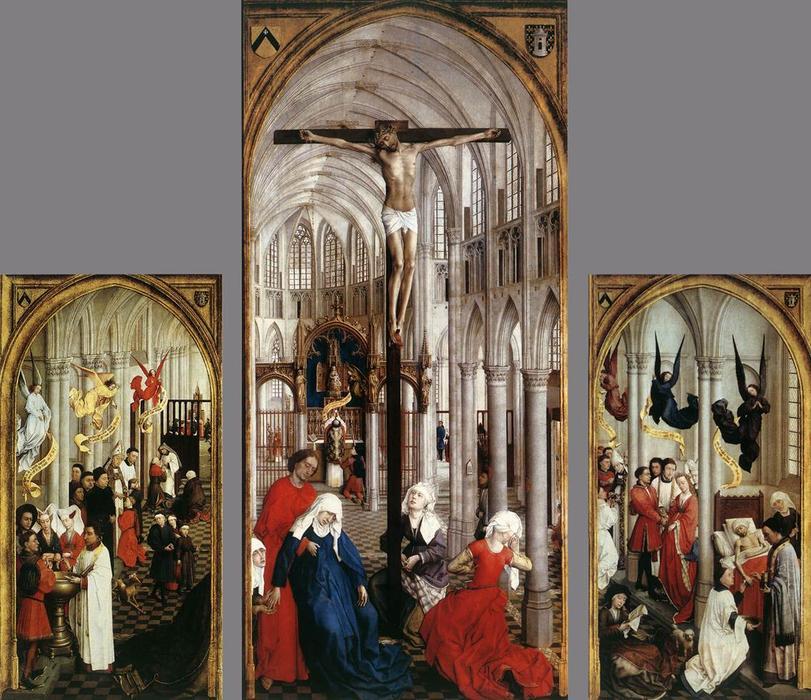 """Siete Sacramentos Retablo"""", 1450 de Rogier Van Der Weyden (1400 ..."""