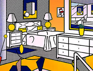 Roy Lichtenstein - interior con móvil