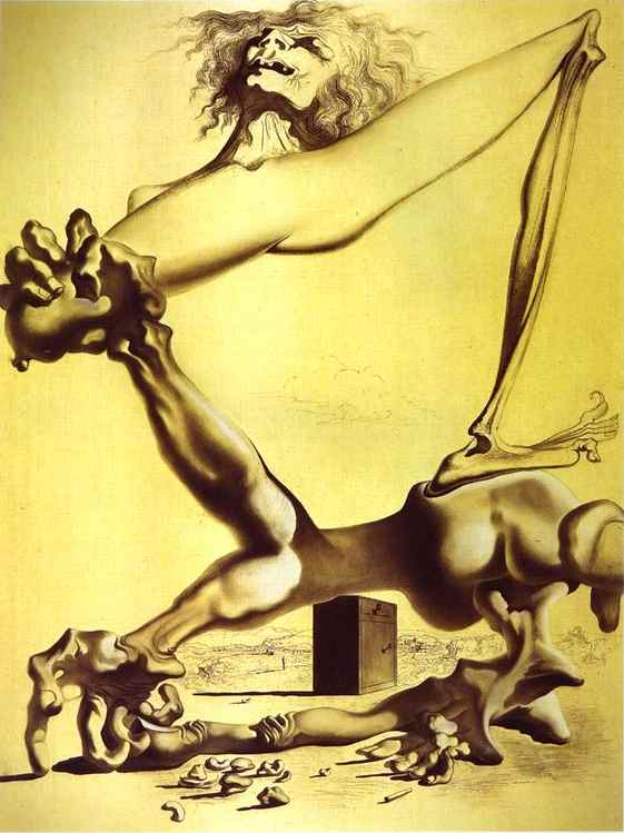 Premonición todaclasede  guerra civil , carbón de Salvador Dali (1938-3183, Spain)