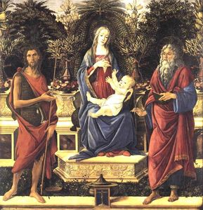 Sandro Botticelli - la virgen y el niño `enthroned`
