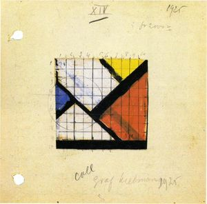 Theo Van Doesburg - Estudio para Counter Composición XIV