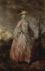 Thomas Gainsborough - Retrato de María condesa Howe