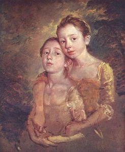 Thomas Gainsborough - retrato de el `artist-s` hija enestado un el gato