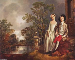 Thomas Gainsborough - Retrato de Heneage Lloyd y su hermana, Lucy