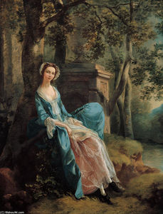 Thomas Gainsborough - Botas retrato of una mujer ( posiblemente of lloyd Familia )