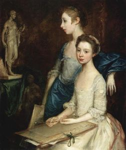 Thomas Gainsborough - Retrato de Molly y Peggy