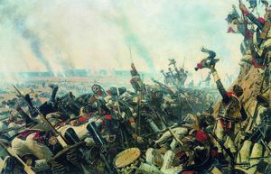 Vasily Vasilevich Vereshchagin - El final of Borodino battle