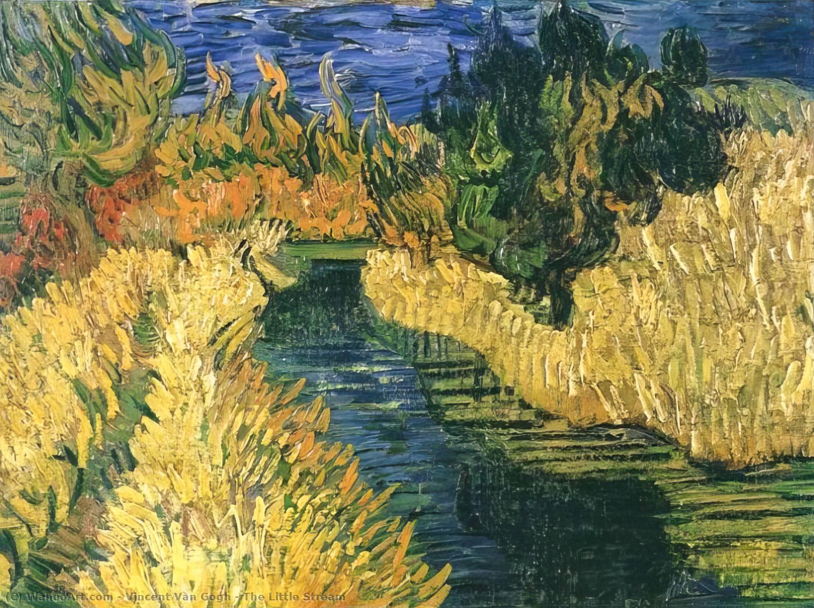 la pequeña corriente, óleo sobre lienzo de Vincent Van Gogh (1853 ...