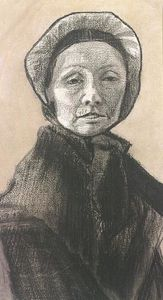 Vincent Van Gogh - Mujer con el casquillo oscuro , Sien-s Madre