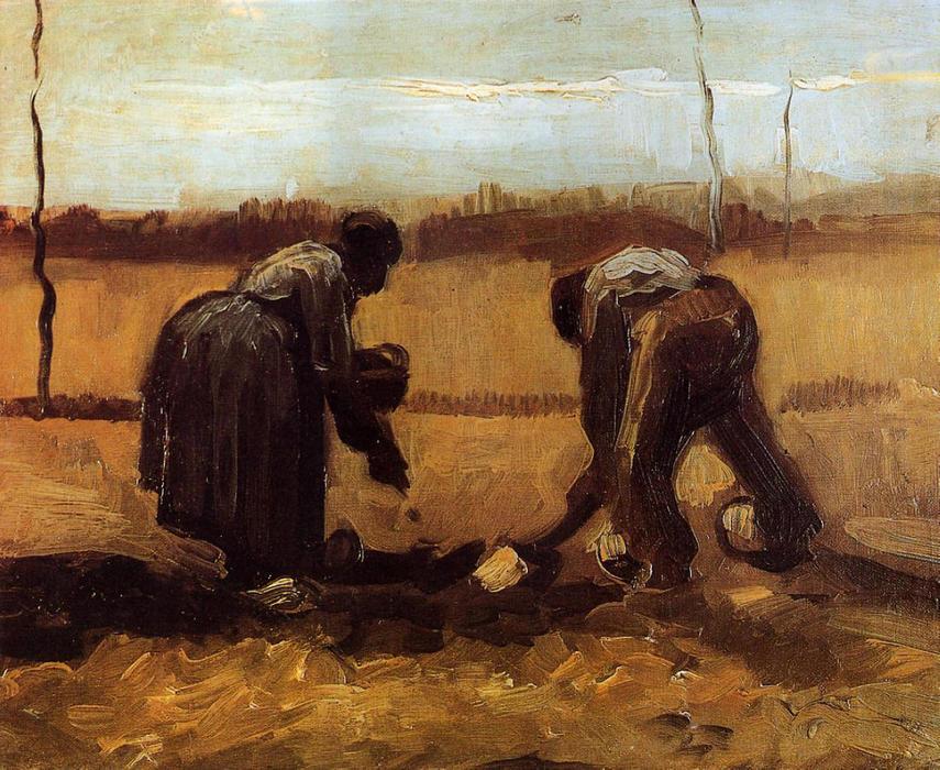 Los campesinos y campesinas patatas de plantaci n leo sobre lienzo de vincent van gogh 1853 - Van gogh comedores de patatas ...