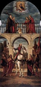 Vittore Carpaccio - la gloria of San . Vidal