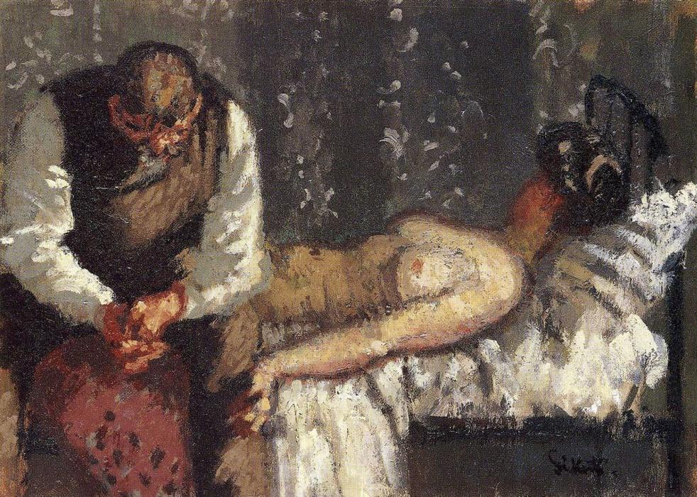 El asesinato de Camden Town, o ¿Qué vamos a hacer por el alquiler?, óleo sobre lienzo de Walter Richard Sickert (1860-1942, Germany)