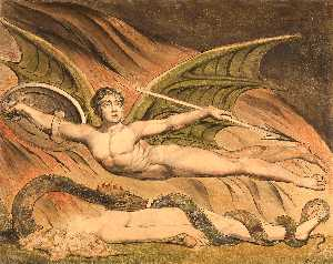 William Blake - Satanás Exulting sobre Eva